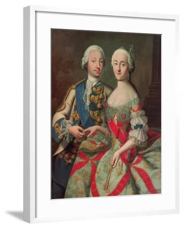 Archduchess Maria Caroline of Austria (1752-1814) Daughter of Emperor Francis I (1708-65)-Jean-Etienne Liotard-Framed Giclee Print