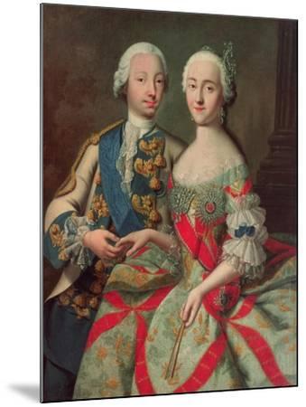 Archduchess Maria Caroline of Austria (1752-1814) Daughter of Emperor Francis I (1708-65)-Jean-Etienne Liotard-Mounted Giclee Print