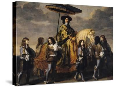 The Chancellor Seguier (1588-1672)-Charles Le Brun-Stretched Canvas Print