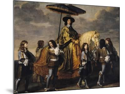 The Chancellor Seguier (1588-1672)-Charles Le Brun-Mounted Giclee Print