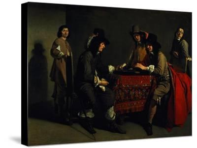 The Backgammon Players-Antoine & Louis Le Nain-Stretched Canvas Print