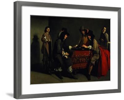 The Backgammon Players-Antoine & Louis Le Nain-Framed Giclee Print