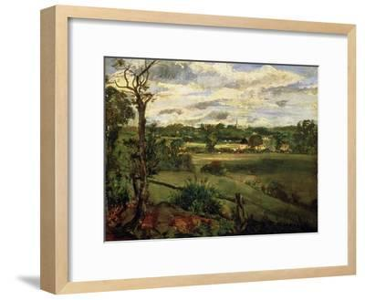 View of Highgate from Hampstead Heath, circa 1834-John Constable-Framed Giclee Print