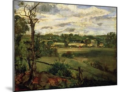 View of Highgate from Hampstead Heath, circa 1834-John Constable-Mounted Giclee Print