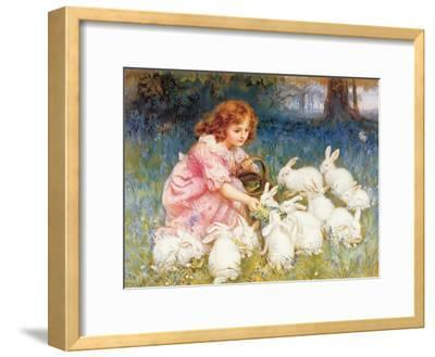 Feeding the Rabbits-Frederick Morgan-Framed Giclee Print