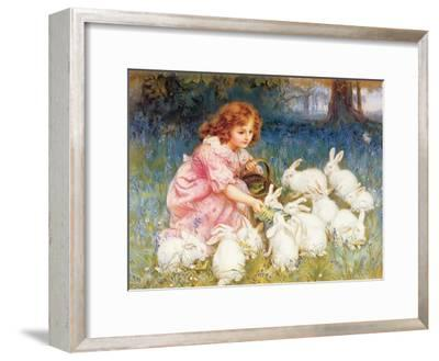 Feeding the Rabbits-Frederick Morgan-Framed Giclee Print