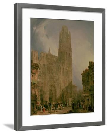 West Front of Notre Dame, Rouen-David Roberts-Framed Giclee Print