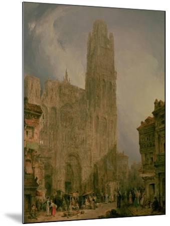 West Front of Notre Dame, Rouen-David Roberts-Mounted Giclee Print