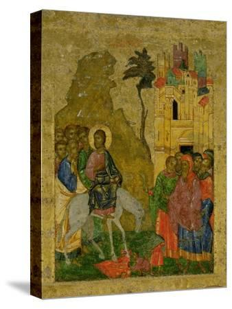 The Entry into Jerusalem, Russian Icon from the Iconostasis in the Cathedral of St. Sophia--Stretched Canvas Print