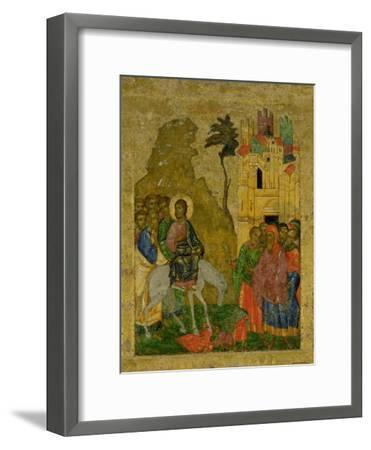 The Entry into Jerusalem, Russian Icon from the Iconostasis in the Cathedral of St. Sophia--Framed Giclee Print