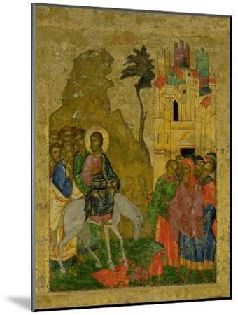 The Entry into Jerusalem, Russian Icon from the Iconostasis in the Cathedral of St. Sophia--Mounted Giclee Print