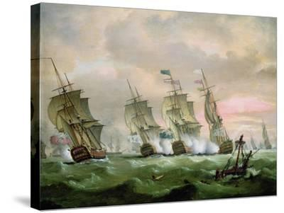 Admiral Sir Edward Hawke Defeating Admiral M. De Conflans in the Bay of Biscay-Thomas Luny-Stretched Canvas Print