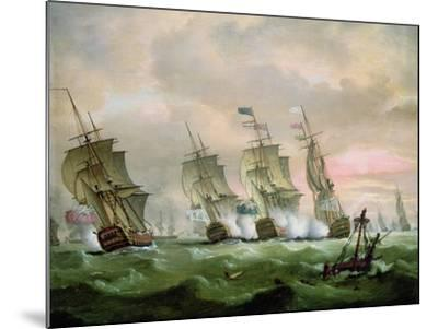 Admiral Sir Edward Hawke Defeating Admiral M. De Conflans in the Bay of Biscay-Thomas Luny-Mounted Giclee Print