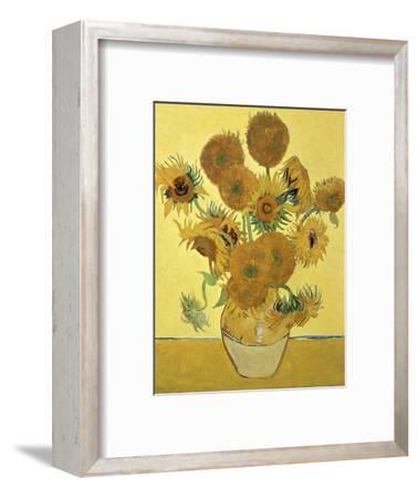 Vase of Fifteen Sunflowers, c.1888-Vincent van Gogh-Framed Premium Giclee Print