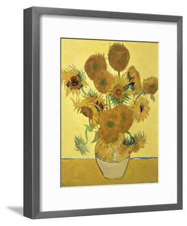 Vase of Fifteen Sunflowers, c.1888-Vincent van Gogh-Framed Giclee Print