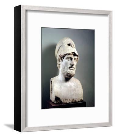 Bust of Pericles (D.429 BC) Roman, Copy of a Greek Original, circa 430 BC (Marble Sculpture)--Framed Premium Giclee Print
