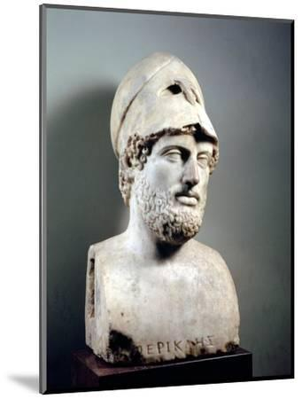 Bust of Pericles (D.429 BC) Roman, Copy of a Greek Original, circa 430 BC (Marble Sculpture)--Mounted Premium Giclee Print