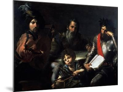 The Four Ages of Man, circa 1626-7-Valentin de Boulogne-Mounted Giclee Print