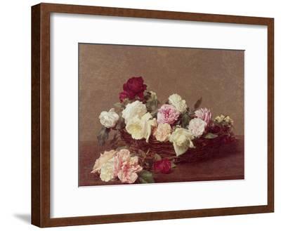 A Basket of Roses, 1890-Henri Fantin-Latour-Framed Giclee Print
