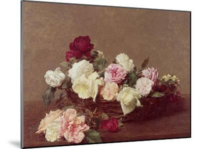 A Basket of Roses, 1890-Henri Fantin-Latour-Mounted Giclee Print