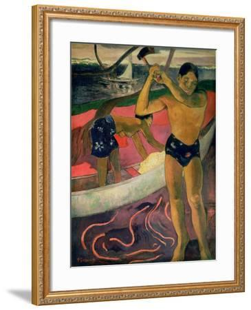The Man with an Axe, 1891-Paul Gauguin-Framed Giclee Print