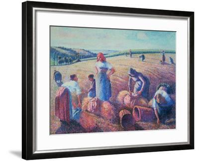 Women Haymaking, 1889-Camille Pissarro-Framed Giclee Print