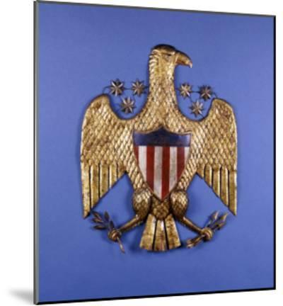 A Gilded Pressed Tin Eagle, American, 20th Century--Mounted Giclee Print