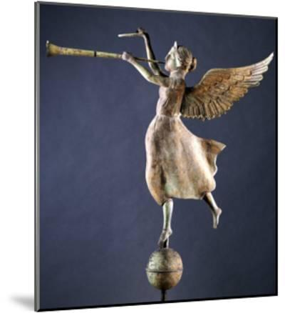 A Gilded and Molded Copper Weathervane of the Angel Gabriel, American, Late 19th Century--Mounted Giclee Print
