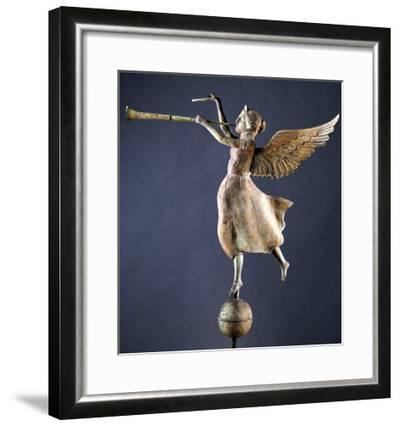 A Gilded and Molded Copper Weathervane of the Angel Gabriel, American, Late 19th Century--Framed Giclee Print