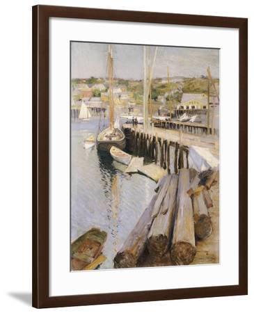Fish Wharves, Gloucester, 1896-Willard Leroy Metcalf-Framed Giclee Print