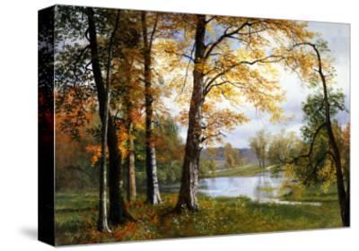 A Quiet Lake-Albert Bierstadt-Stretched Canvas Print