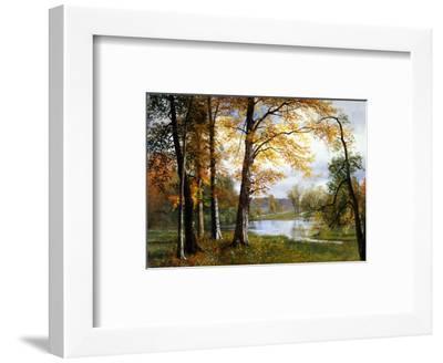 A Quiet Lake-Albert Bierstadt-Framed Premium Giclee Print