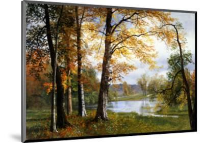 A Quiet Lake-Albert Bierstadt-Mounted Premium Giclee Print