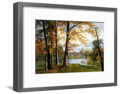 A Quiet Lake-Albert Bierstadt-Framed Giclee Print