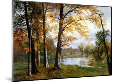 A Quiet Lake-Albert Bierstadt-Mounted Giclee Print