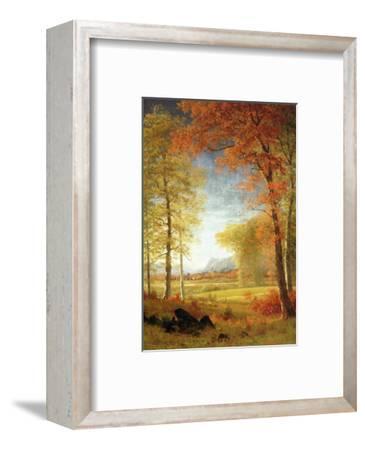 Autumn in America, Oneida County, New York-Albert Bierstadt-Framed Premium Giclee Print