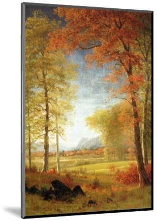 Autumn in America, Oneida County, New York-Albert Bierstadt-Mounted Premium Giclee Print