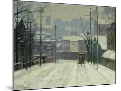 Twilight in Gloucester-Paul Cornoyer-Mounted Giclee Print