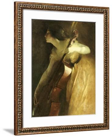 A Ray of Sunlight (The Cellist), 1898-John White Alexander-Framed Giclee Print