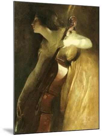 A Ray of Sunlight (The Cellist), 1898-John White Alexander-Mounted Giclee Print