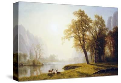 Yosemite Valley-Albert Bierstadt-Stretched Canvas Print