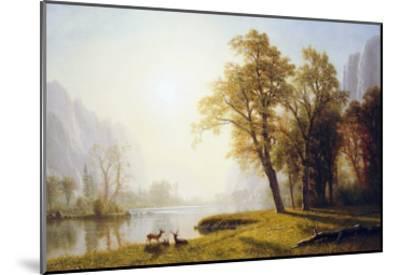 Yosemite Valley-Albert Bierstadt-Mounted Giclee Print