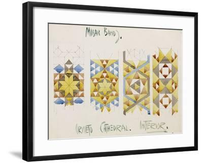 Orvieto Cathedral, a Sheet of Studies of Mosaic Bands, 1891-Charles Rennie Mackintosh-Framed Giclee Print