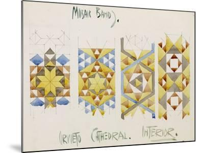 Orvieto Cathedral, a Sheet of Studies of Mosaic Bands, 1891-Charles Rennie Mackintosh-Mounted Giclee Print