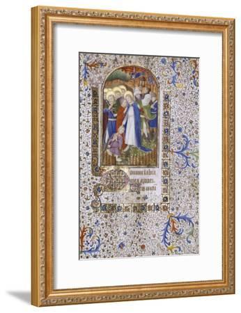 Pieta, Book of Hours, in Latin, circa 1430--Framed Giclee Print