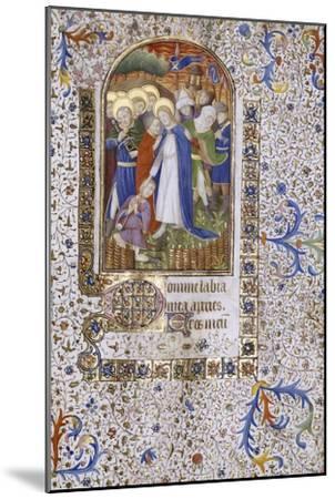 Pieta, Book of Hours, in Latin, circa 1430--Mounted Giclee Print