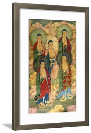 A Very Rare Buddhist Votive Painting, Dated Wanli 19th Year--Framed Giclee Print