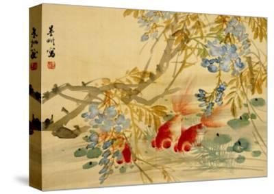 Goldfish-Ni Tian-Stretched Canvas Print