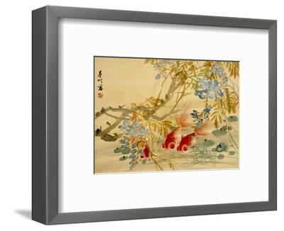 Goldfish-Ni Tian-Framed Premium Giclee Print