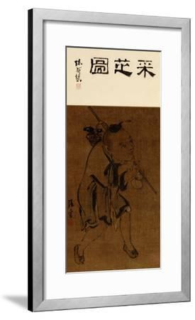 Child Gathering Lingzhi-Zhang Ling-Framed Giclee Print